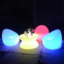 light up patio furniture glowing