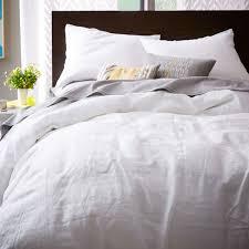 ... Belgian Flax Linen Quilt Cover + Pillowcases - White ...