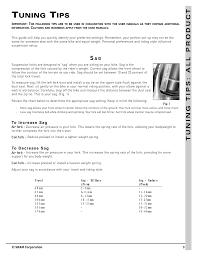 Rockshox Weight Chart