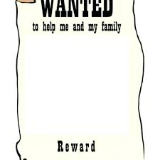 Wanted Poster Template For Pages Western Wanted Poster Templates Free Printable Sample With Template