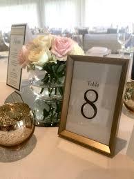 gold framed table number