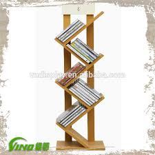 Wooden Book Stand For Display New Design Book Display Racks Nature Wooden Book Stand with four 4