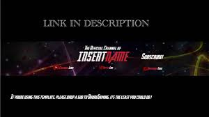 Youtube Template Psd Free Youtube Channel Art Photoshop Template Free Download
