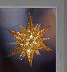 Weihnachtsstern Holzstern ø 30cm Stern Holz Weihnachten Fensterdeko Led Warmweiß