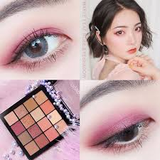 Simple <b>Fashion</b> Earth Red Brown Eye Shadow Makeup <b>Pearlescent</b> ...