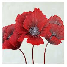 bright poppies metal wall art