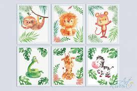 Safari Animals Template Printable Nursery Art Safari Animals Cute African Wild