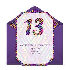 Free 13th Birthday Invitations Free Neon 13th Birthday Invitations In 2019 13th Birthday