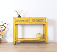 console console table with 2 drawers in