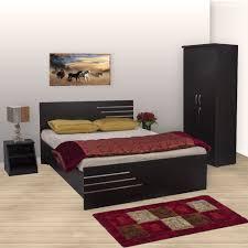 Bharat Lifestyle Amsterdam Bedroom Set Queen Bed Wardrobe