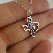 rose of texas necklace 925 sterling