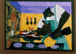 modern storytellers romare bearden jacob lawrence faith the shoemaker