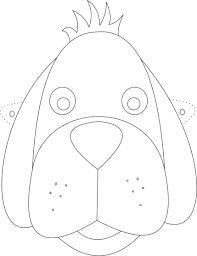 Dog Mask Printable Coloring Page For