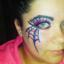 by eolizemakeup spider web eye makeup design
