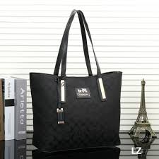coach poppy bowknot monogram medium grey totes euf  coach logo monogram  lz8859 tote in black