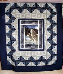 119 best Quilts - Panel images on Pinterest | Asian style ... & Wolf Calls Country Quilt - nice example of framing a panel Adamdwight.com