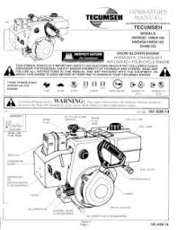 HMSK100 TECUMSEH Snow Blower Engine Manual