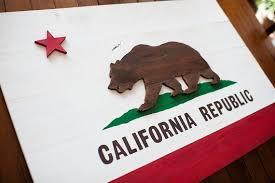 wood flag wooden flag california flag