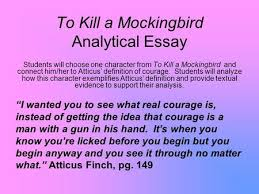 to kill a mockingbird essay outline ppt video online  to kill a mockingbird analytical essay students will choose one character from to kill a mockingbird