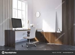 download design home office corner. White And Dark Wooden Home Office Corner, Poster \u2014 Stock Photo Download Design Corner