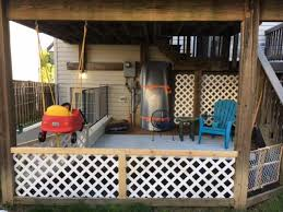 under deck patio and hanging porch