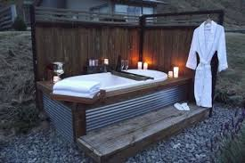 Super simple outdoor bath.   Hot Tubs Ideas   Pinterest   Outdoor baths,  Bath and Hot tubs