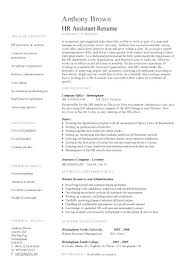 Hr Assistant Resume Hr Assistant 2 Human Resources Resume Sample Examples Successmaker Co