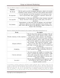 essay on internet marketing essay on internet