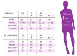 Hip Measurement Chart Size Chart Offrandes