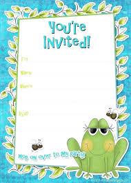 invitations to birthday party frog birthday invitations birthday invitation card sample printable