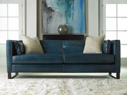 Modern Blue Couch Leather Sofa And Gorgeous Art Work Intended Simple Ideas