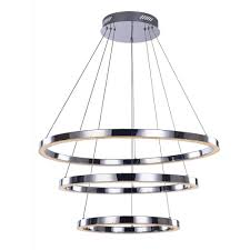 modern chrome and crystal led ceiling pendant