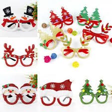 Christmas Photo Frames For Kids Details About Funny Christmas Ornaments Glasses Frames Evening Party Kids Xmas Gifts Decor Toy