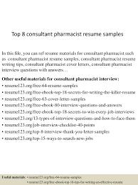 Consultant Pharmacist Sample Resume Top224consultantpharmacistresumesamples22450602224324224243lva224app62249224thumbnail24jpgcb=2242433252972 2