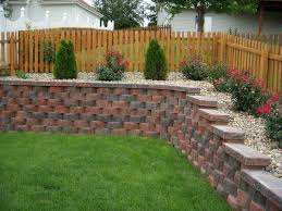 Small Picture front yard retaining wall designs House Design Ideas