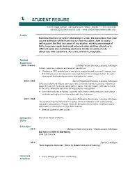 Resume Builder For Nursing Student Student Resume Creator Blank