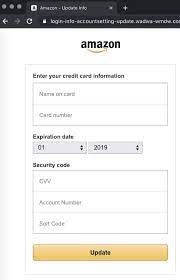 new amazon phishing scam stealing