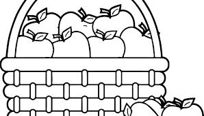 Fruit Basket Coloring Pages Trustbanksurinamecom