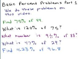 solve percent equations part 1 help in middle school math pre algebra free math help s by mathvids com