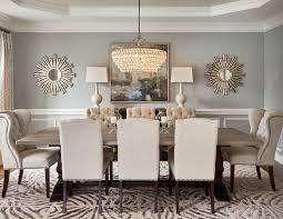 benjamin moore metropolitan dining room transitional with area rug bronze chandeliers