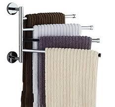 Wall mounted bathroom towel rack Bathroom Accessory Image Unavailable Amazoncom Amazoncom Bekith 16 Inch Wallmounted Stainless Steel Swivel Bars
