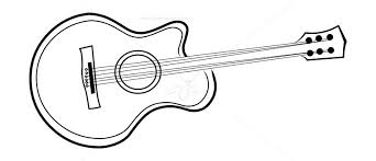 Guitar Outline Vector Free Vectors Illustrations Graphics Clipart Png