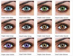 Contact Lenses Colour Chart My Story Colored Contact Lenses Lulu S