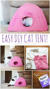 DIY Cat Tent Tutorial - This easy DIY cat tent craft is such a cute idea