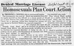 News articles on gay marriage