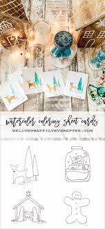 Sharing love with the people who matter most. Printable Diy Christmas Card Coloring Sheet For Kids To Paint We Lived Happily Ever After