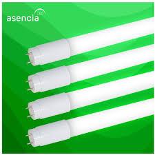 Green Led Tube Lights Asencia An 03518 18w Type B Ballast Bypass Single Ended T8 Led Tube Light Dlc Certified 4 Pack Cool White 4000k 4 Pack