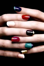 gel nail designs for fall 2014. the seemingly color overlapping and inverse combinations on this french manicure is absolutely stunning! gel nail designs for fall 2014