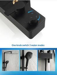 Großhandel Mattschwarz Bad Regendusche Set System Wandmischer Bad Dusche Wasserhahn Mit Haken Und Platzierung Plattform Von Qqq541278 35679 Auf