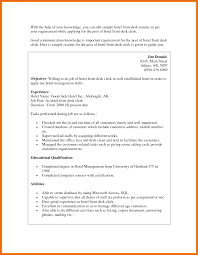 Resume Sample For Front Desk Receptionist Free Resume Example